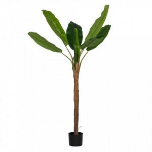 Planta artificiala verde cu ghiveci 180 cm Banana Woood