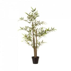 Planta artificiala verde/neagra din poliester si polietilena 100 cm Hardy Medium Unimasa