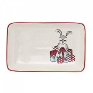 Platou alb din ceramica 12x19 cm Twinkle Bloomingville