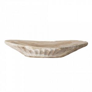 Platou decorativ maro din lemn de paulownia Lorete Creative Collection