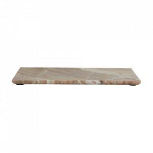 Platou decorativ maro din marmura 30x41 cm Salina Nordal
