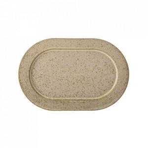 Platou maro din ceramica 16x24 cm Nugga Bloomingville