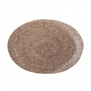 Platou maro din ceramica 19x26,5 cm Columbine Bloomingville