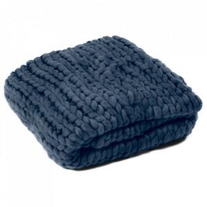 Pled albastru din poliester si fibre acrilice 127x152 cm Frio Zago