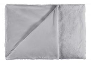 Pled argintiu din poliester 150x200 cm Heaven Lalee