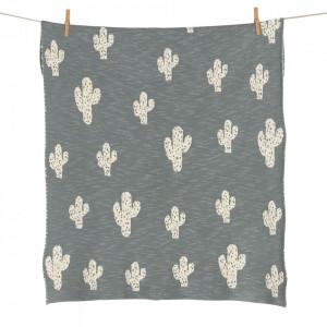 Pled din bumbac 65x80 cm Cactus Quax