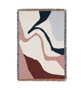 Pled multicolor din bumbac 120x170 cm Vista Ferm Living