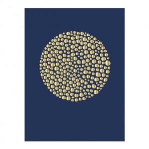 Poster albastru din hartie 40x30 cm Gold Circle Bloomingville