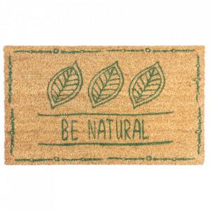 Pres dreptunghiular maro din fibre de cocos pentru intrare 45x75 cm Be Natural Lako
