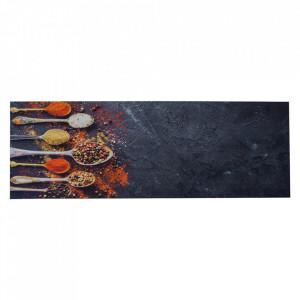 Pres dreptunghiular multicolor din poliamida pentru intrare 65x180 cm Spices Lako