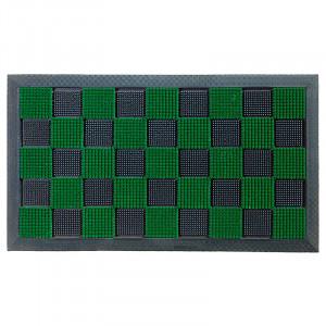 Pres dreptunghiular verde din cauciuc si poliamida pentru intrare 40x60 cm PinPin Lako
