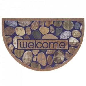 Pres maro oval pentru intrare din polipropilena 45x70 cm Stone The Home