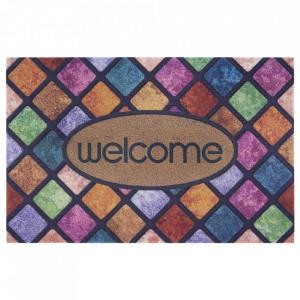 Pres multicolor dreptunghiular pentru intrare din polipropilena 45x70 cm Palermo The Home
