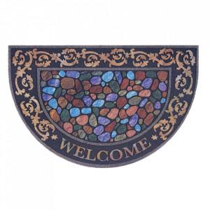 Pres multicolor oval pentru intrare din polipropilena 45x70 cm Kiev The Home