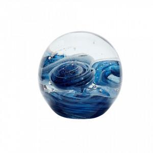Prespapier albastru din sticla Leonela Blue Hubsch