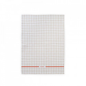 Prosop pentru bucatarie bej nisipiu/portocaliu din bumbac 50x70 cm Ren Grid Normann Copenhagen