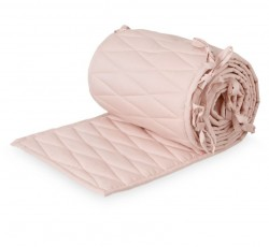 Protectie roz din bumbac pentru patut 30x365 cm Harlequin Bumper Blossom Cam Cam