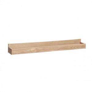 Raft maro din lemn de stejar 80 cm Leon Hubsch