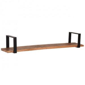 Raft negru/maro din metal si lemn 120 cm Slam LABEL51
