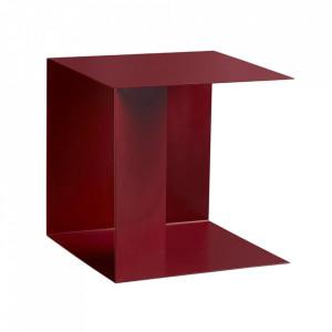 Raft rosu din metal 23 cm Vowel Woud