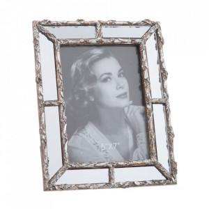 Rama foto argintie din polirasina 19x24 cm Iko Ixia