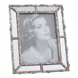 Rama foto argintie din polirasina 21x26 cm Iko Ixia