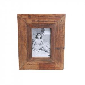 Rama foto dreptunghiulara maro din lemn 20x25 cm Vintage Small Raw Materials
