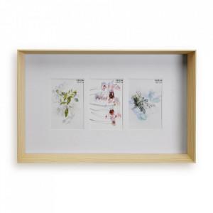 Rama foto maro din lemn pentru 3 fotografii 29,4x45,4 cm Denise Versa Home