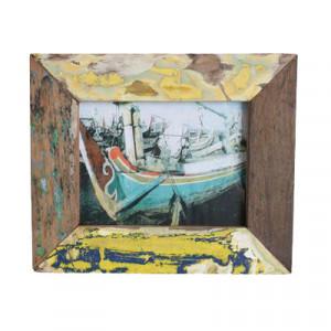 Rama foto multicolora din lemn 18x18 cm Raw Materials