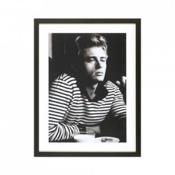 Rama foto neagra/alba din lemn si sticla 65x85 cm James Dean Breakfast LifeStyle Home Collection