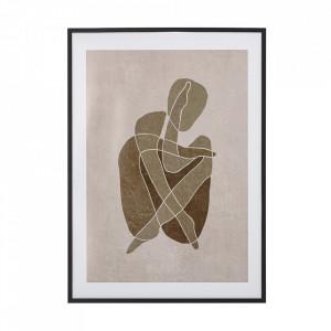 Rama foto neagra din lemn de pin 52x72 cm Chika Bloomingville