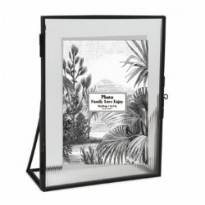 Rama foto neagra din metal si sticla 18x23 cm Suzzi Opjet Paris
