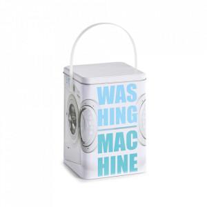 Recipient cu capac multicolor din metal pentru detergent rufe 15x21 cm Washing Machine Zeller