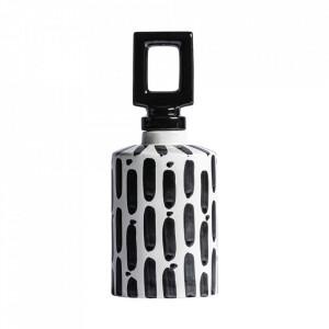 Recipient cu capac negru/alb din ceramica 14x36 cm Samir Vical Home