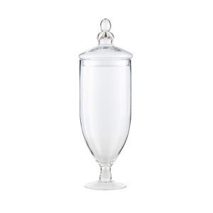 Recipient cu capac transparent din sticla 12x38 cm Queen LifeStyle Home Collection