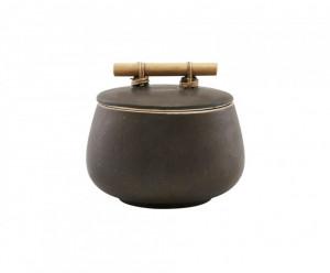 Recipient maro din ceramica cu capac 900 ml Diva House Doctor