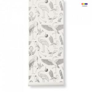 Rola tapet crem din hartie 53x1000 cm Katie Scott Birds Off-White Ferm Living