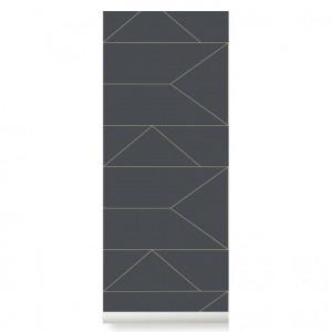 Rola tapet gri 53x1000 cm Lines Graphite Ferm Living