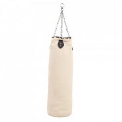 Sac de box decorativ alb din canvas 100 cm Punchbag Versmissen