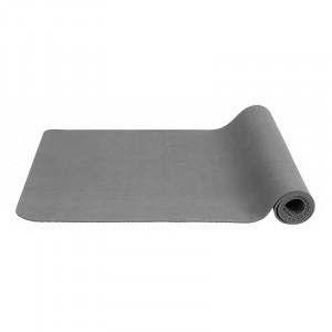 Saltea antiderapanta gri din cauciuc pentru fitness 60x173 cm Yoga Nordal
