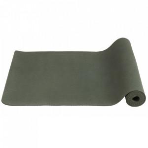 Saltea antiderapanta verde din cauciuc pentru fitness 60x173 cm Yoga Nordal