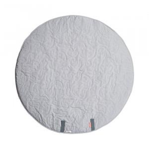 Saltea de joaca gri din poliester 90 cm Grey Mat Done by Deer