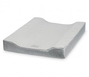 Saltea gri din bumbac organic pentru masa de infasat 50x65 cm Meli Grey Wave Cam Cam