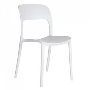 Scaun alb din plastic Just Ixia