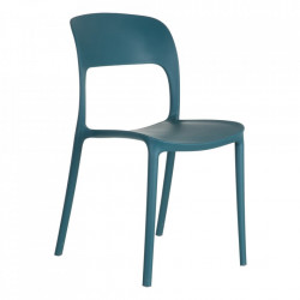 Scaun albastru din plastic Just Ixia