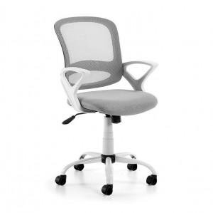 Scaun birou ajustabil cu roti plastic alb/gri Lambert La Forma