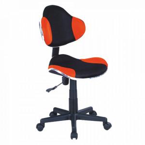 Scaun birou ajustabil negru/portocaliu din textil si metal Q-G2 Signal Meble