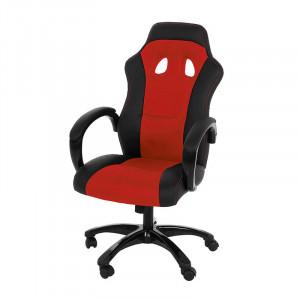 Scaun birou ajustabil negru/rosu din otel si textil Race Actona Company