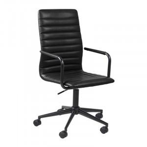 Scaun birou negru din metal si poliuretan Winslow Actona Company