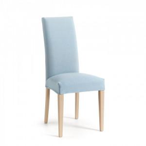 Scaun dining albastru deschis din lemn si poliester Freia La Forma